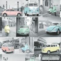 Muriva VW Collage 102563 Wallpaper